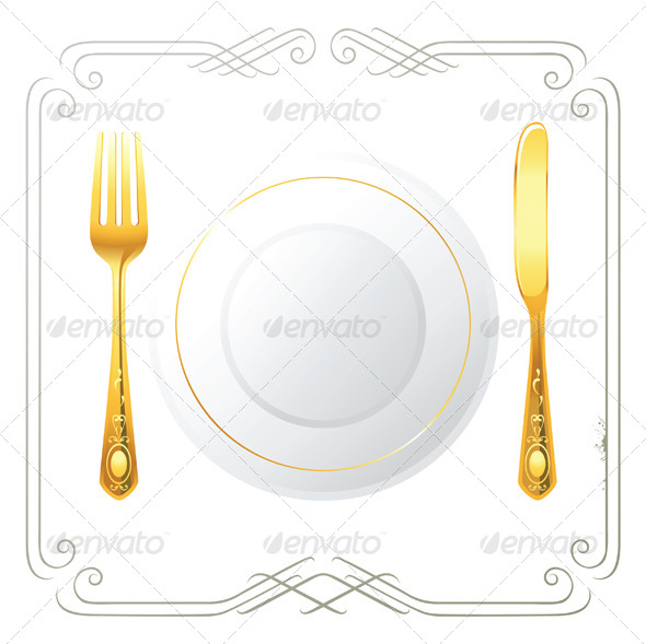 Place Setting - Objects Vectors