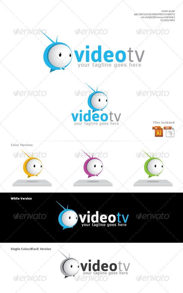VideoTv  Logo Designed - Logo Templates
