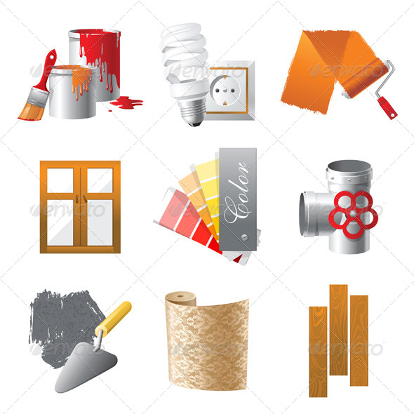 Repair Icons - Objects Vectors
