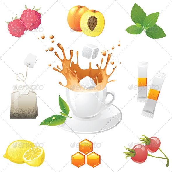 Tea Icons - Objects Vectors