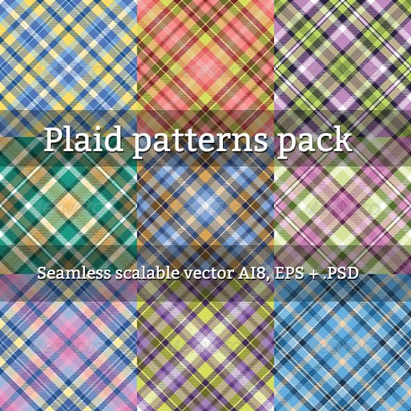 Seamless Plaid Patterns - Patterns Decorative