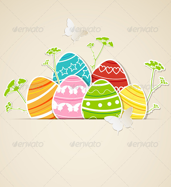 Paper Easter Background - Miscellaneous Seasons/Holidays