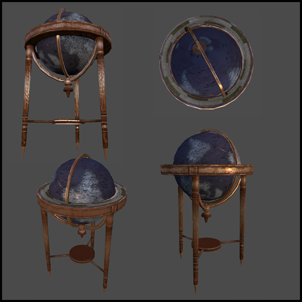 Office Globe - 3DOcean Item for Sale