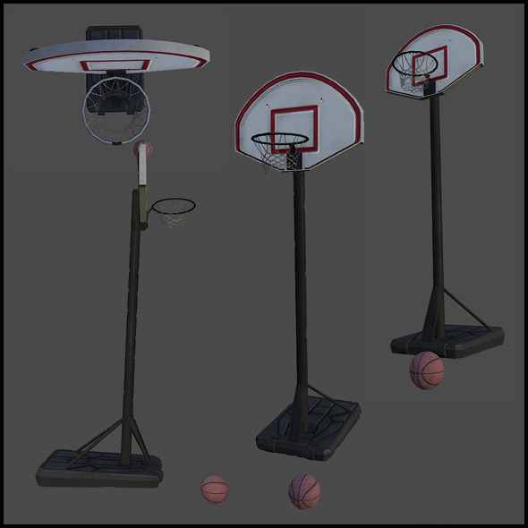 Basketball Hoop with Basketball Ball - 3DOcean Item for Sale