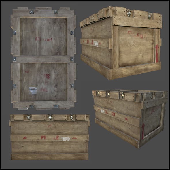 Cargo Crate - 3DOcean Item for Sale