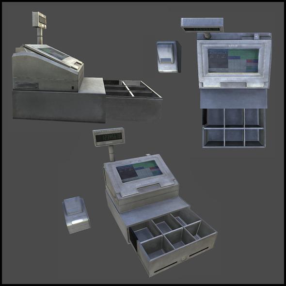 Cash Register - 3DOcean Item for Sale