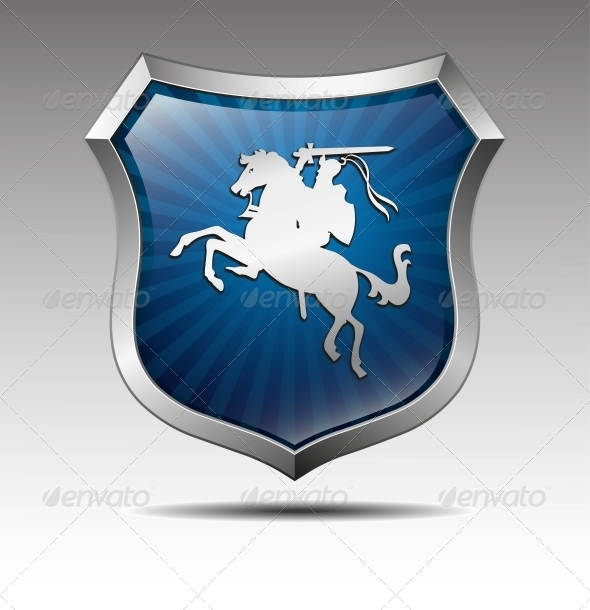Arms with the Knight on Horse Vector - Miscellaneous Conceptual