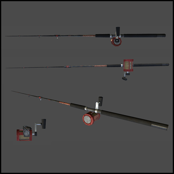 Fishing Rod - 3DOcean Item for Sale