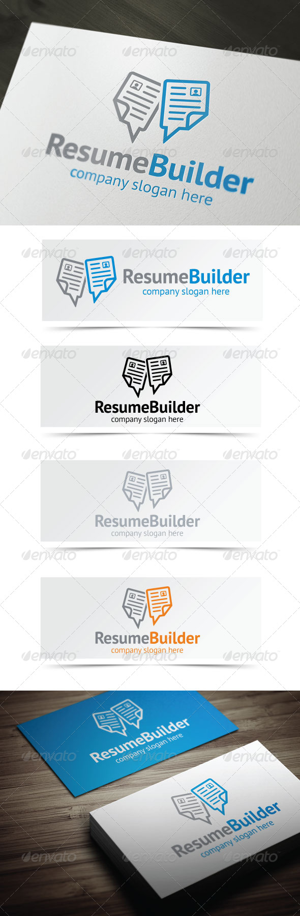 Resume Builder - Objects Logo Templates
