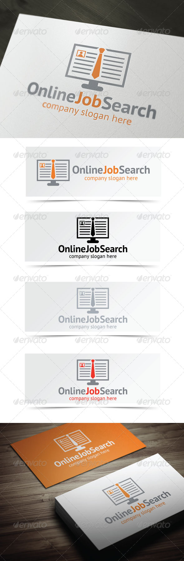 Online Job Search - Objects Logo Templates