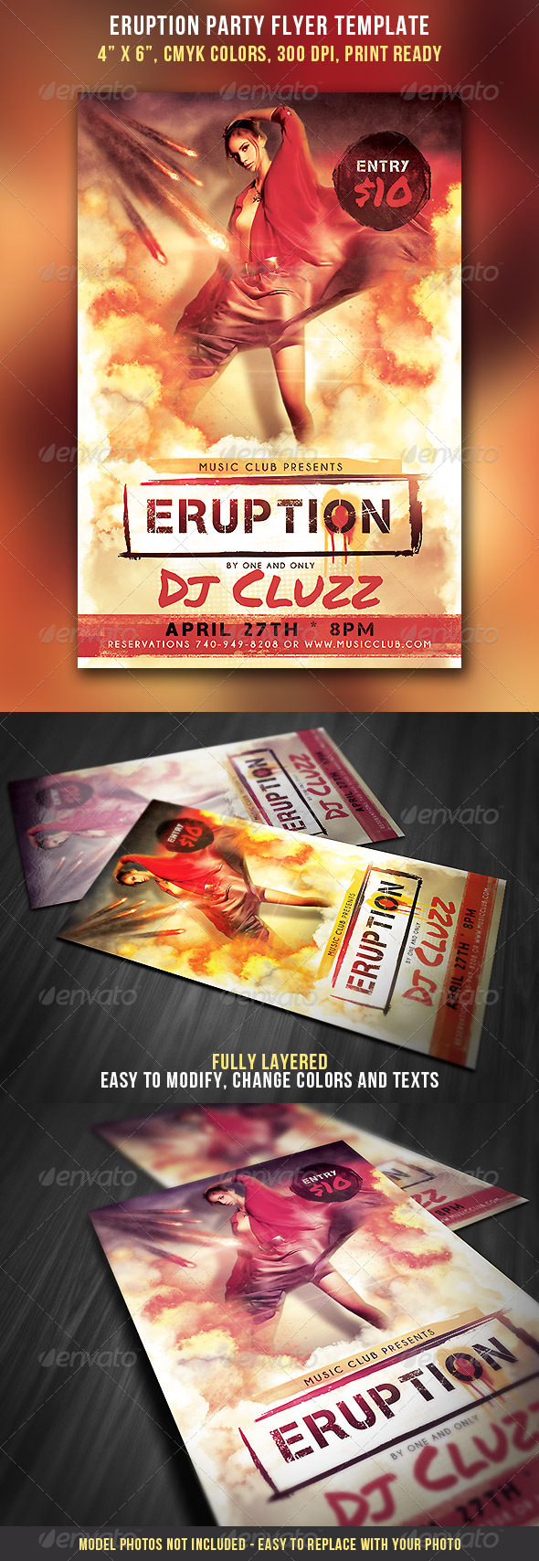 Eruption Party Flyer - Clubs & Parties Events