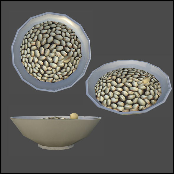 Peanut Bowl - 3DOcean Item for Sale