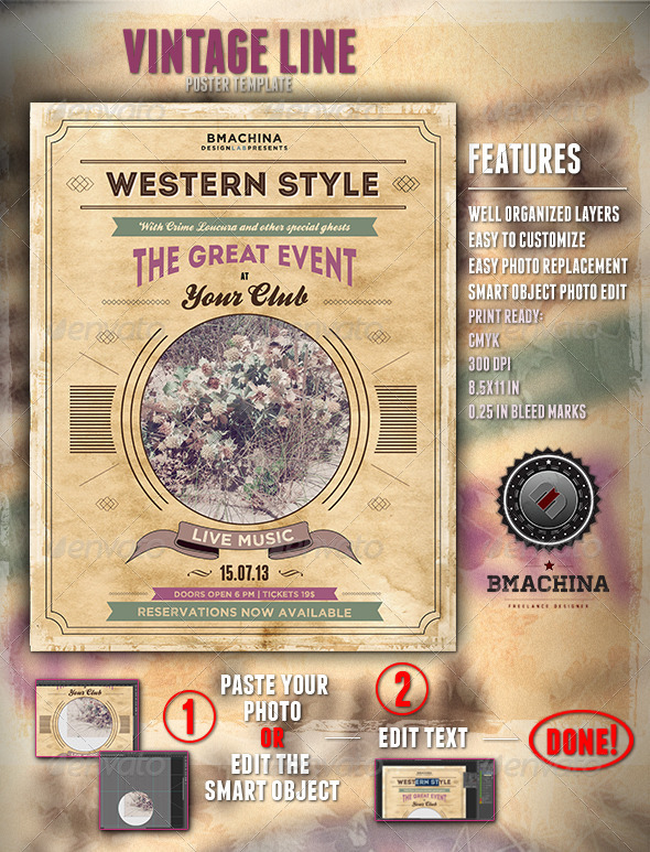 Poster Template - Modern Western Style - Concerts Events