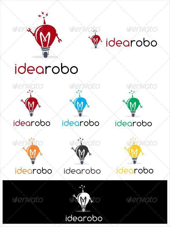 Idea Robo Logo - Objects Logo Templates