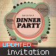 Retro-Color Dinner Party Invitation - GraphicRiver Item for Sale