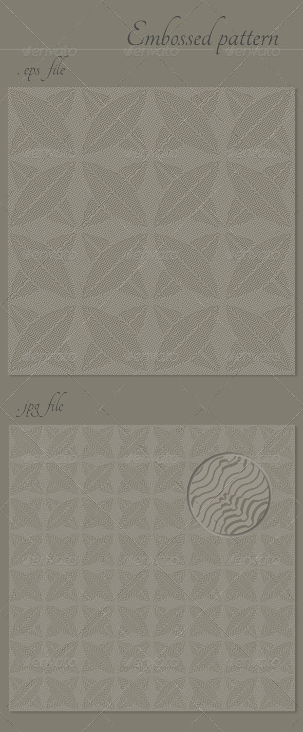 Abstract Embossed Vector Seamless Pattern Texture - Patterns Decorative