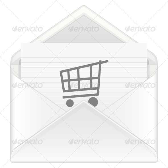 Envelope Shopping Cart - Objects Vectors