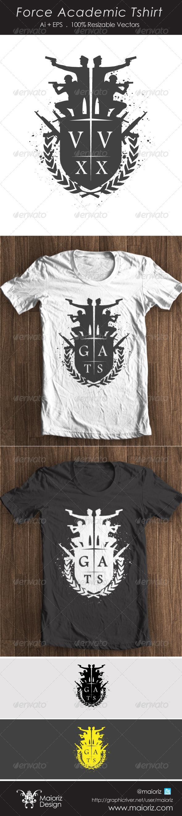 Acedemic Force Tshirt - T-Shirts