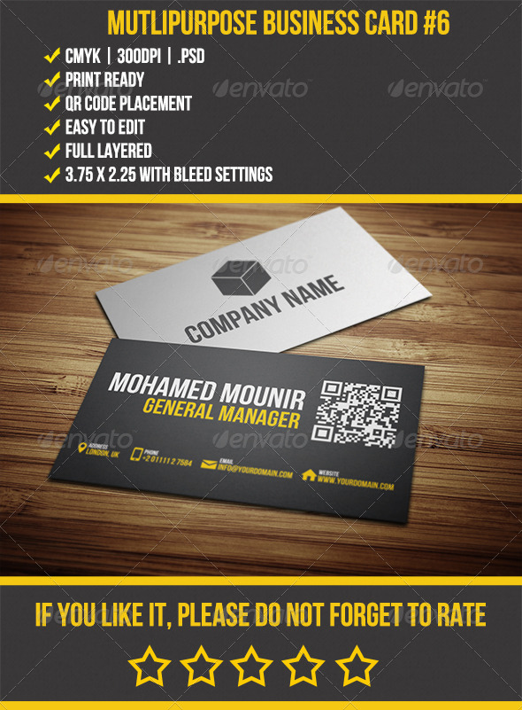 multipurpose business card 6 business cards print templates - Business Cards For Sale