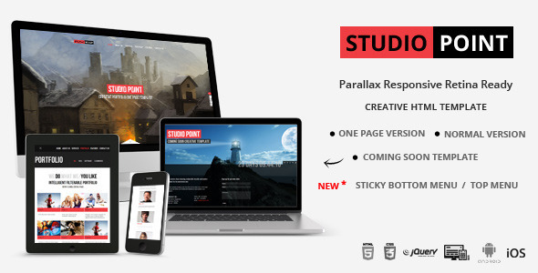 STUDIO POINT - Parallax Responsive Retina Ready - Creative Site Templates