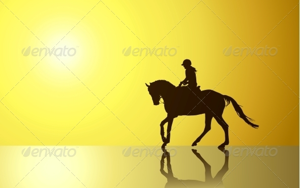 Background with Horse - People Characters
