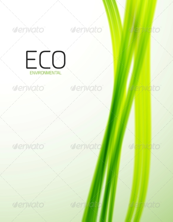 Eco Modern Green Lines Template - Backgrounds Decorative