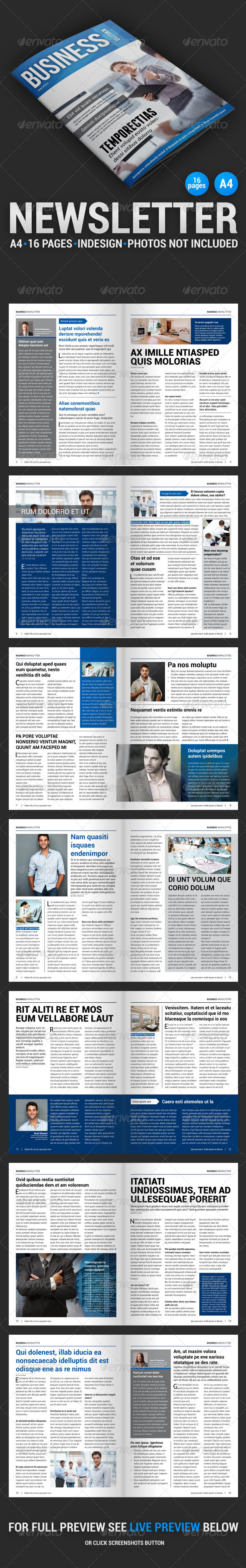Business Newsletter 1 - Newsletters Print Templates