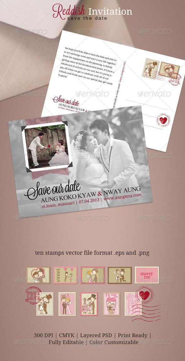Reddish Invitation - Weddings Cards & Invites