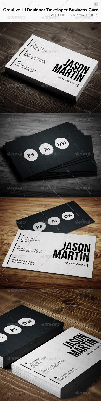 Creative Designer-Developer Business Card - 02 - Creative Business Cards