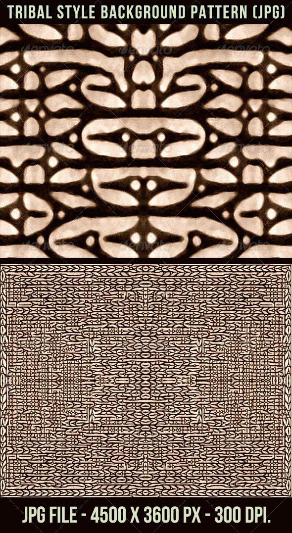 Tribal Style Background Pattern - Patterns Backgrounds