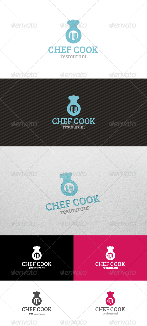 Chef Cook Restaurant - Logo Templates