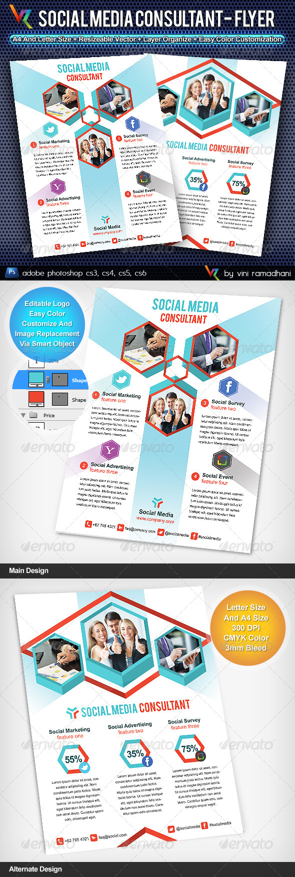 Social Media Consultant Flyer Or Advertising - Corporate Flyers