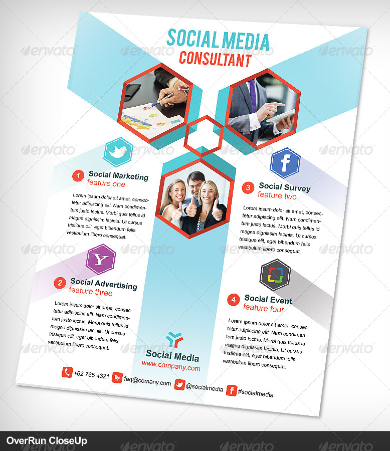 social media consultant flyer or advertising by vinirama