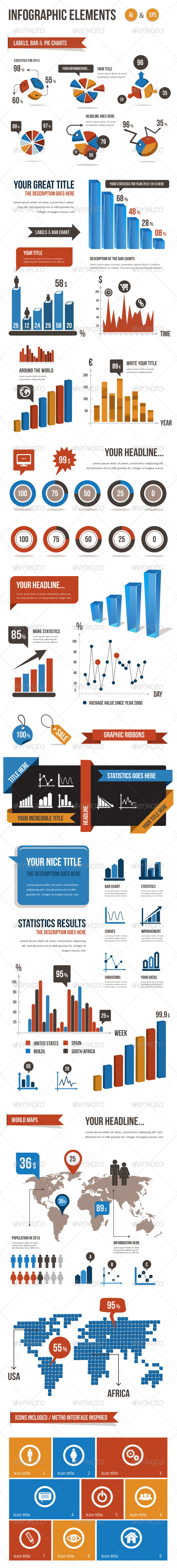 Infographic Elements Vector Pack - Infographics