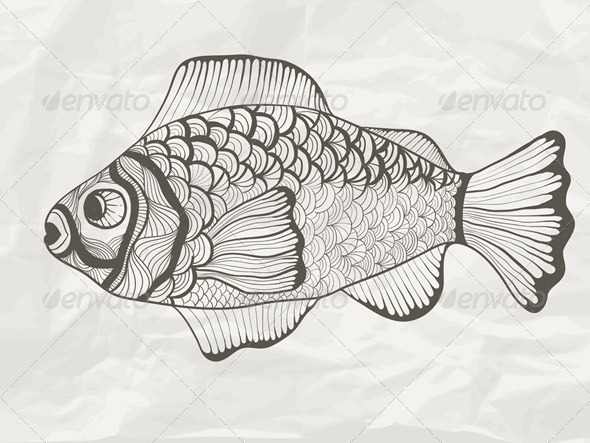 Vector Funky Fish - Animals Characters