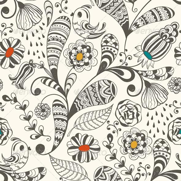 Seamless Spring Wallpaper Pattern - Patterns Decorative