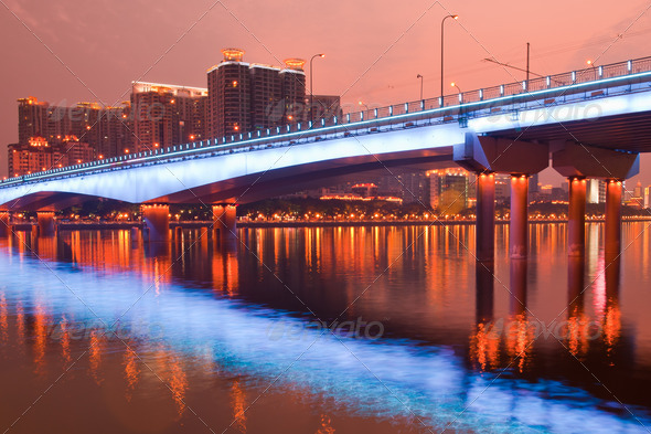 Bridge Night scene - Stock Photo - Images