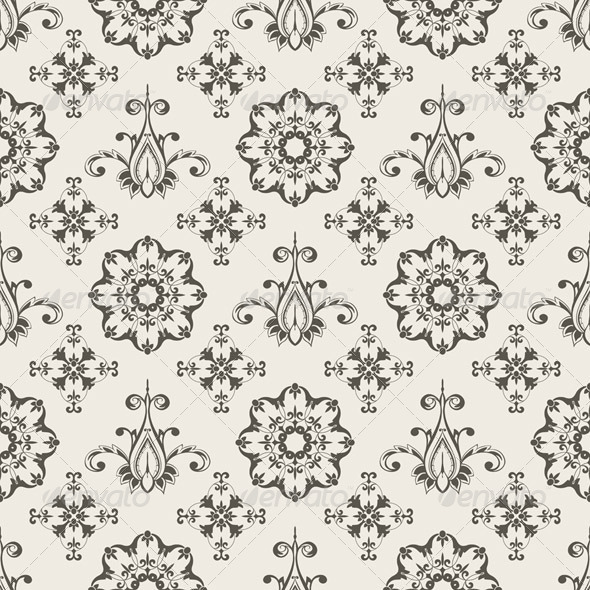 Seamless  Floral Wallpaper Pattern - Patterns Decorative