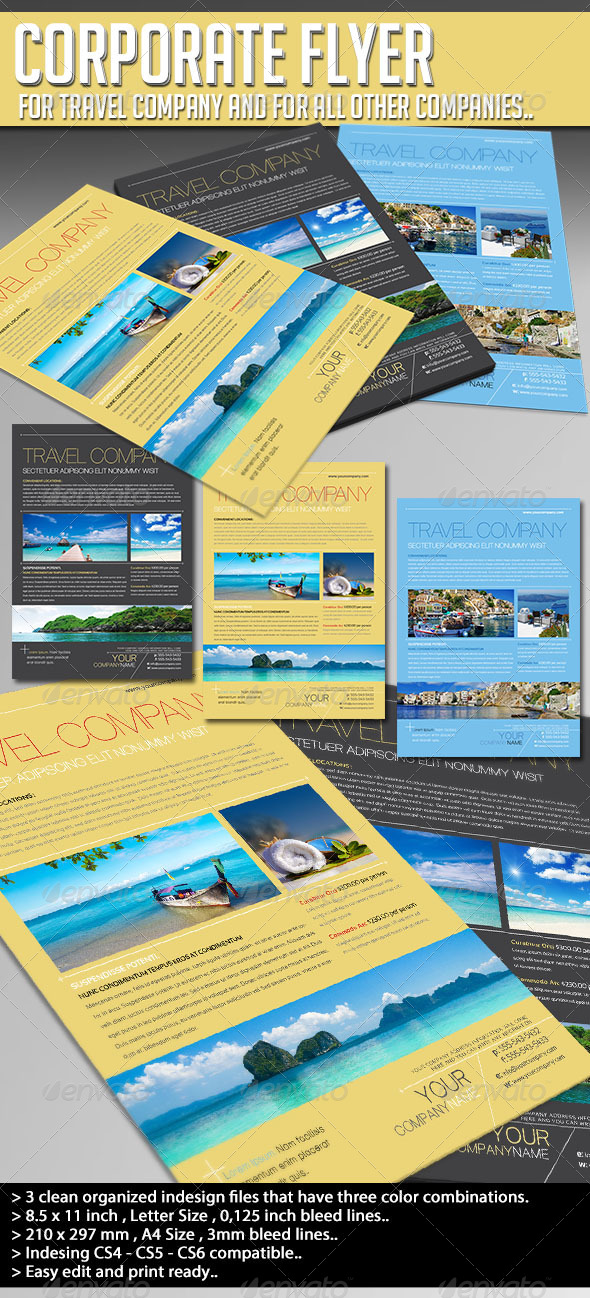 Corporate Flyer - Travel Company - Corporate Flyers