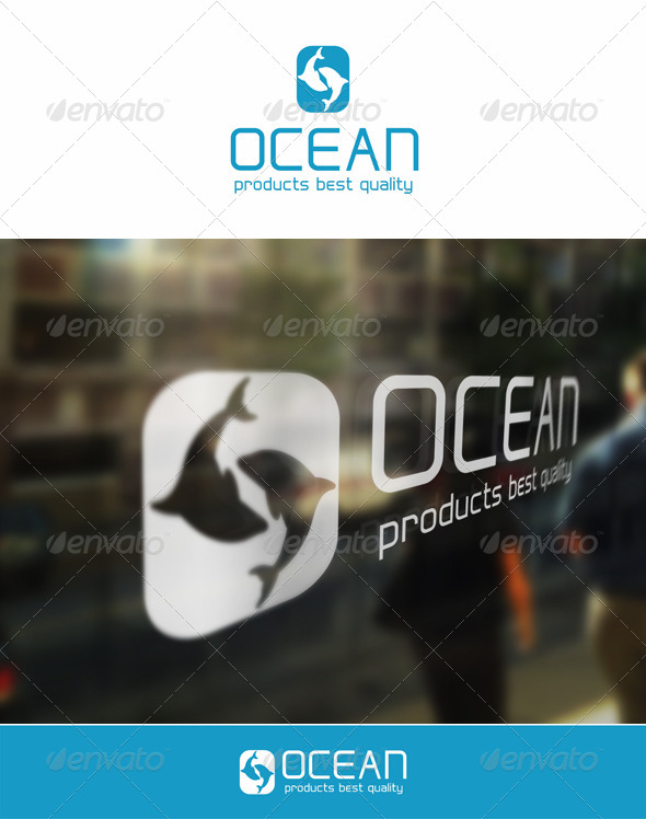 Ocean Fish - Letter O Logo Template - Animals Logo Templates