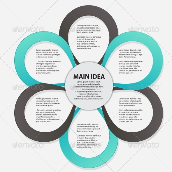Concept of Colorful Circular Banners in Flower - Concepts Business