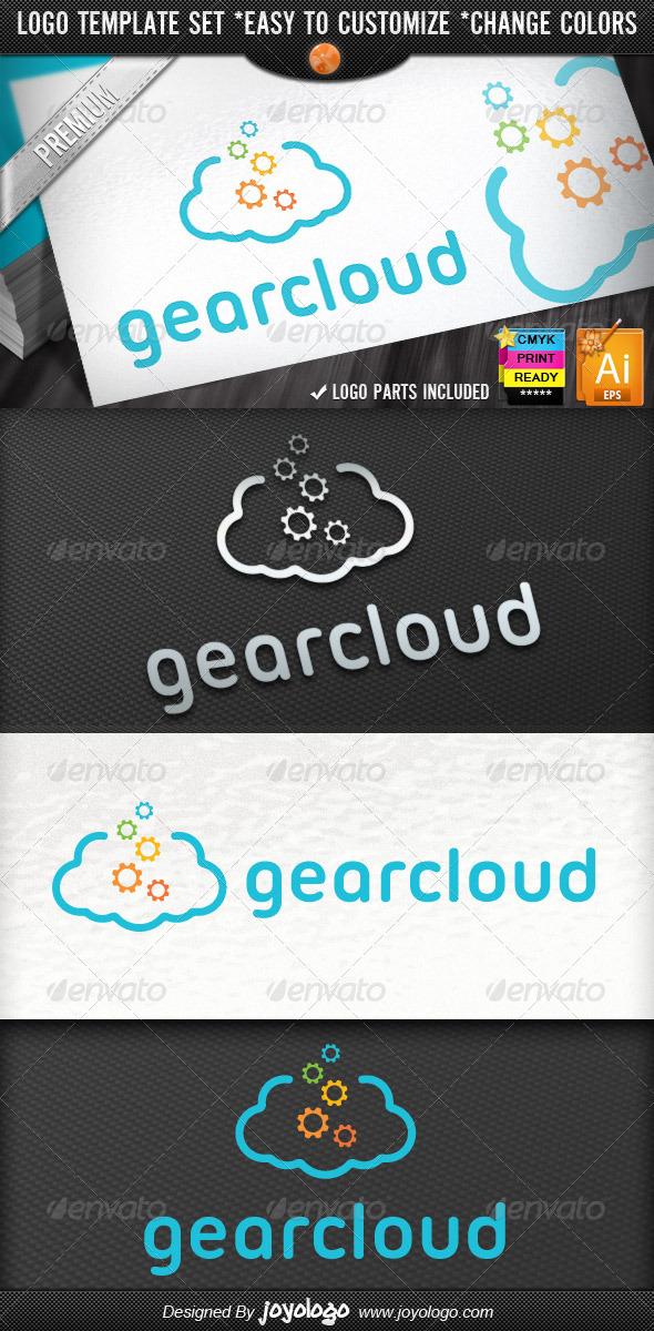 Internet Applications Pixel Gear Cloud Logo  - Symbols Logo Templates