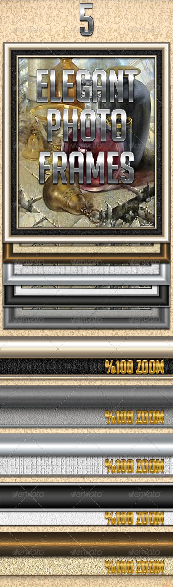 5 Elegant Photo Frames - Miscellaneous Illustrations