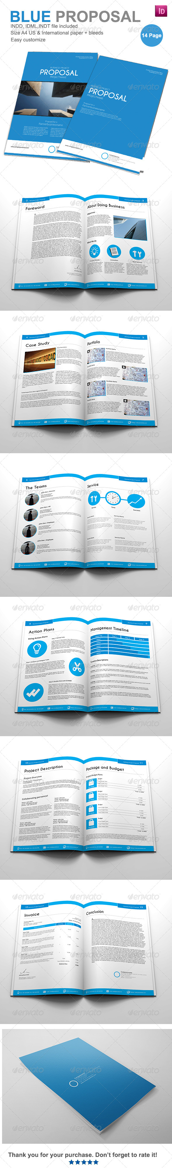 Gstudio Blue Proposal Template - Proposals & Invoices Stationery
