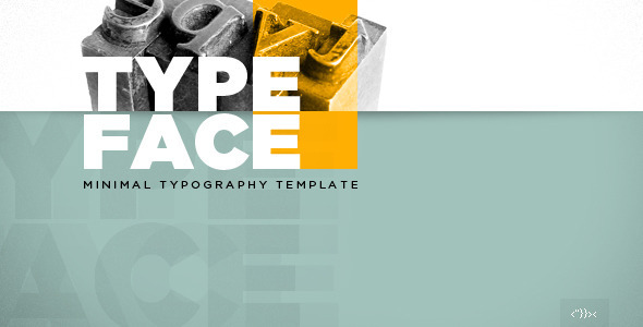 TYPEFACE – Minimal Typography HTML5 Template