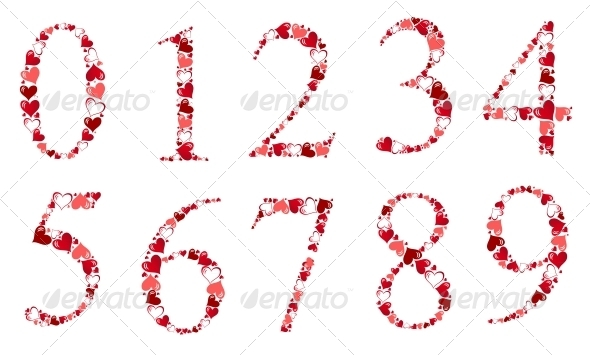 Number of Hearts Vector Illustration - Miscellaneous Vectors
