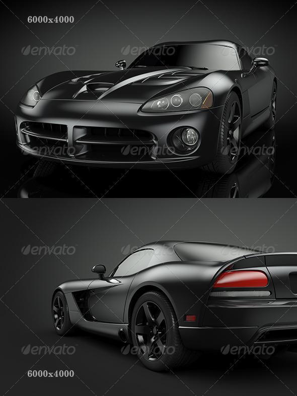 Black Sport Car - Objects 3D Renders