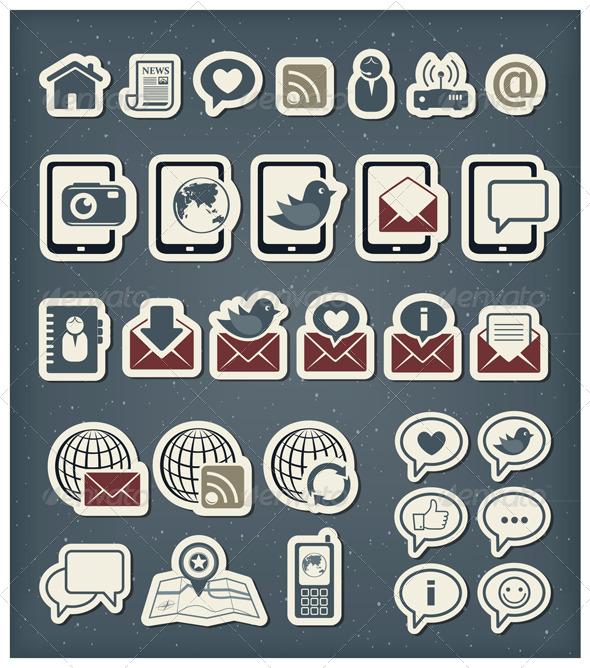 Internet Communication Icons - Communications Technology