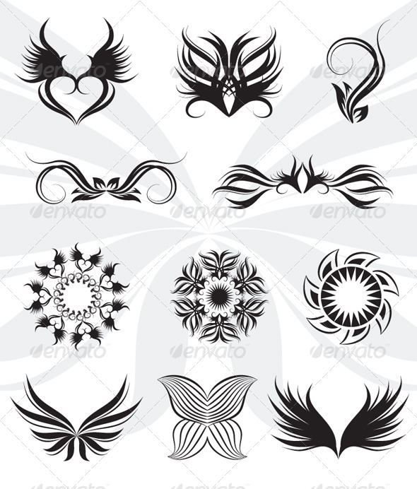 Tribal Set - Decorative Symbols Decorative