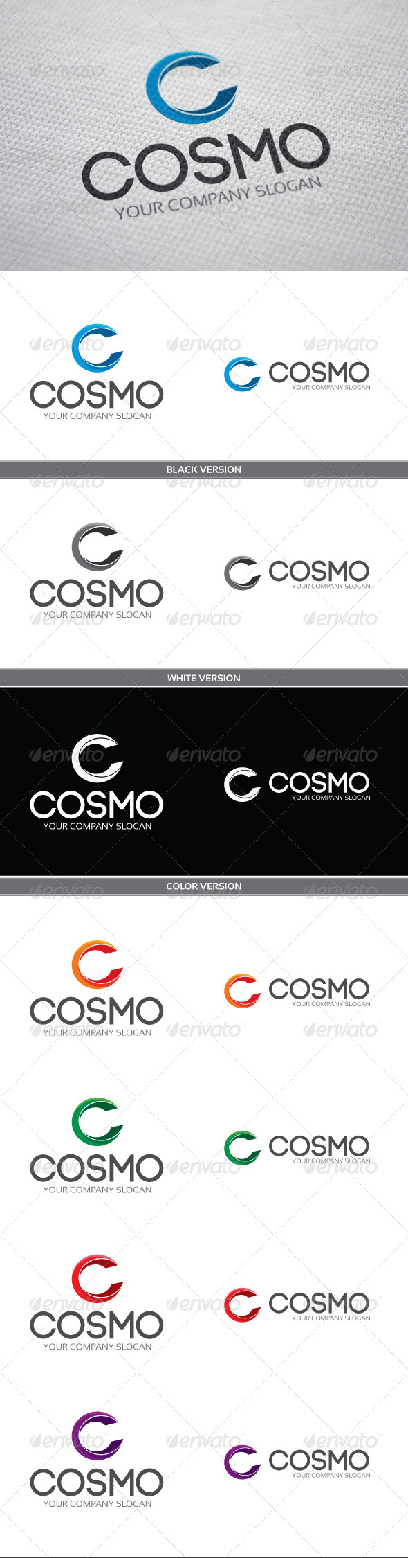 Cosmo - Letters Logo Templates